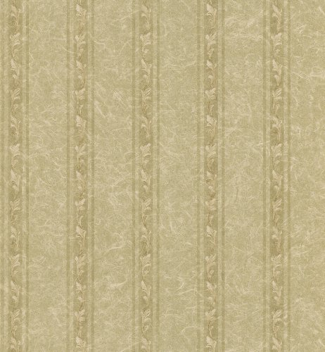 Brewster 982-75367 Textured Weaves Acanthus Stripe Wallpaper, 20.5-Inch by 396-Inch, Neutral