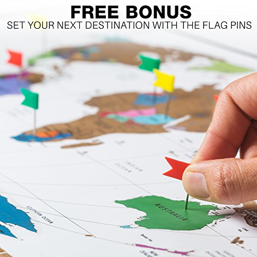 Outlet Julios Adventures World Travel Tracker Map With Free Flag - Scratch off us state maps with pencil 25 pack