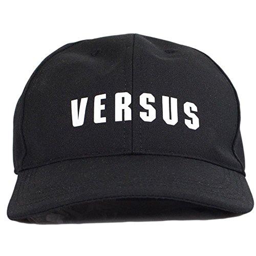 Versace Versus BUC0019 Printed Logo Black Baseball Cap One Size - Mens Versace Hat