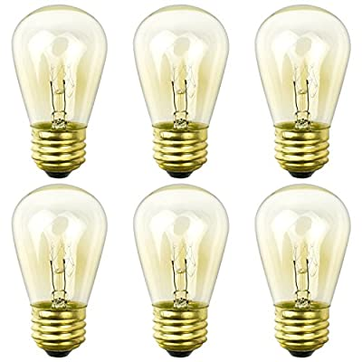 Newhouse Lighting Outdoor Weatherproof S14 Incandescent Replacement String Light Bulbs