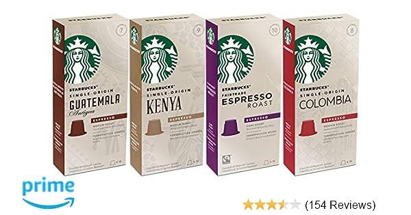 Starbucks Capsules for Nespresso OriginalLine: Colombia, Espresso, Guatemala, Kenya (40 count) Variety Assortment: Amazon.com: Grocery & Gourmet Food