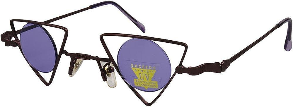 Amazon.com: Triángulo redondo lente anteojos de sol ...