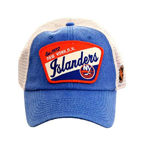 - American Needle Ravenswood NHL Team Mesh Hat, New York Islanders, Ivory/Royal (43422A-NYI)