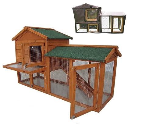 BUNNY BUSINESS The Grove - Caseta de dos pisos con rampa para conejos y cobayas, criadero: Amazon.es: Productos para mascotas