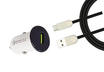 Cargador coche Xiaomi Mi A1 carga rapida Quick Charge 3.0 ...