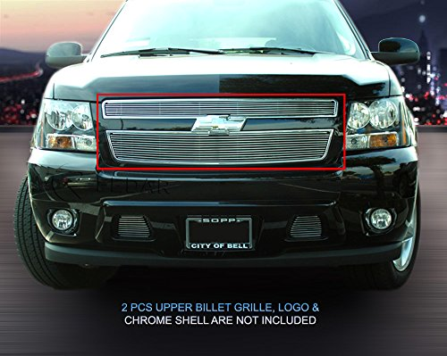 Fedar 07-14 Chevy Tahoe/Avalanche/Suburban Bolt over Style Billet Grille Grill 2-pcs Set-Polished #320185 ()