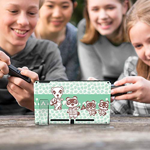"""Controller Gear Aunthentic & Officially Licensed Animal Crossing: New Horizon - """"Tom Nook & Friends"""" Nintendo Switch Skin Bundle"""