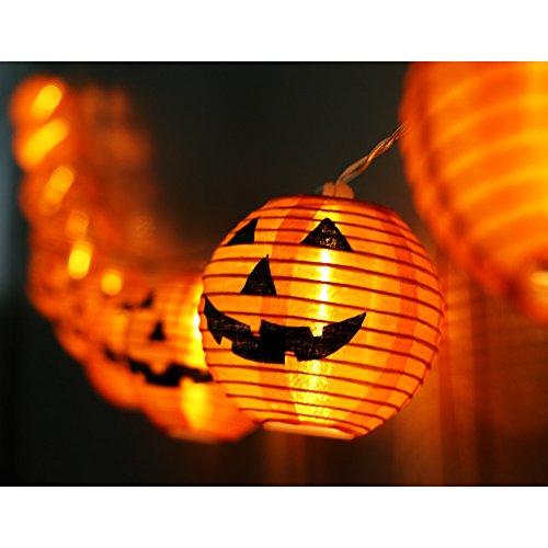 WmBetter Pumpkin String Lights Detachable Polyester Halloween Pumpkin