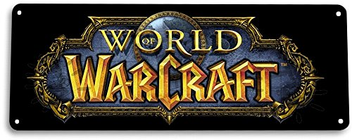 TIN-SIGN-World-of-Warcraft-Arcade-PC-Game-Room-Marquee-Metal-Decor-A952