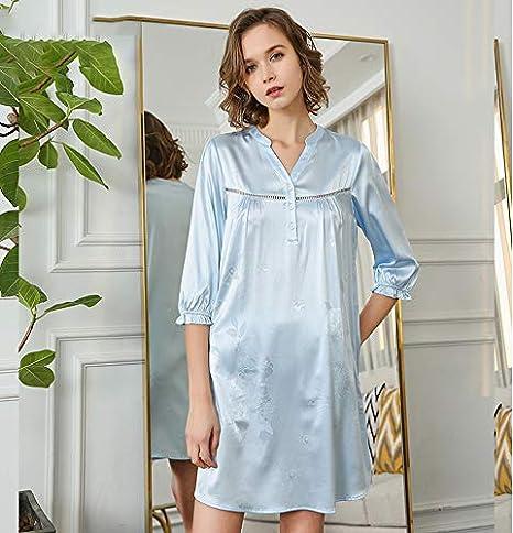 Pijamas Mujeres Verano, pijamas de satén Mujeres Camisones ...