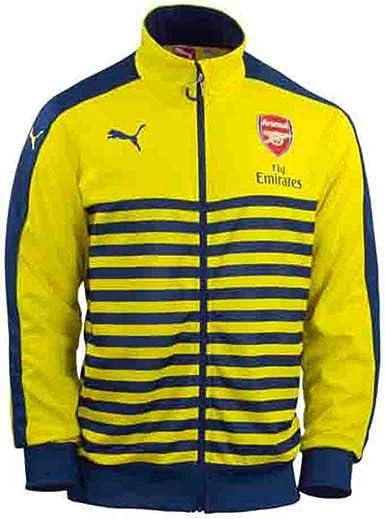 Amazon.com: Puma Arsenal T7 Anthem Jacket Yellow Blue: Clothing