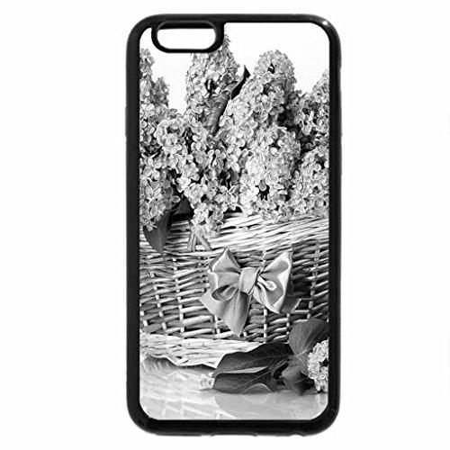 iPhone 6S Plus Case, iPhone 6 Plus Case (Black & White) - Basket of lilies