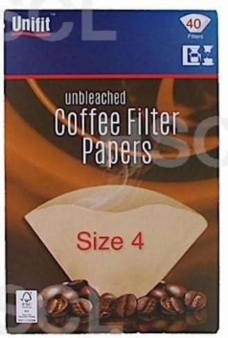/Écrus filtres /à caf/é en Papier 4 tasses 1 /à 40 Lot de 4 tasses-Taille 4