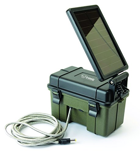Hunting Made Easy's NEW 12V Battery Box with Solar Panel Charging. A Trail Camera's best option!