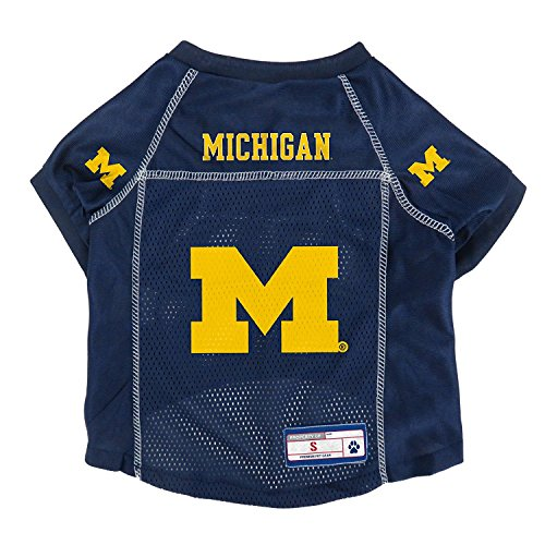 Dog Michigan Wolverines Jersey - NCAA Michigan Wolverines Pet Jersey, XS