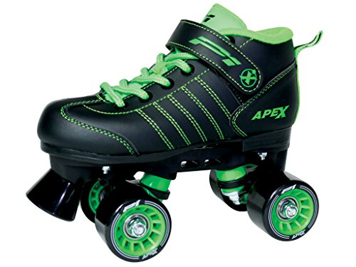 Lynx Apex Kids Quad Roller Rink Skate Green - Skates Vanilla Carbon Speed