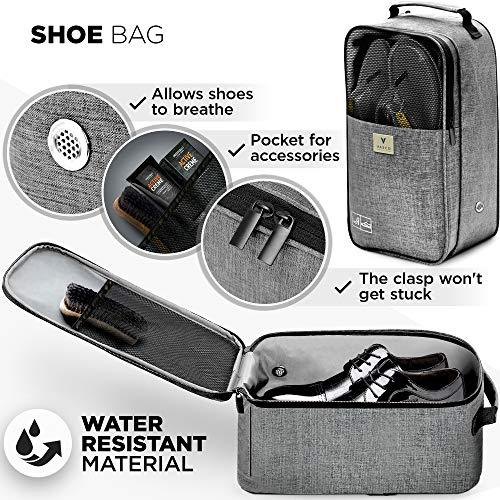 VASCO Shoe Travel Bag – Zipper Bags – Suitable as Shoe Gym Bag – For Men & Women - Gray by Vasco (Image #1)