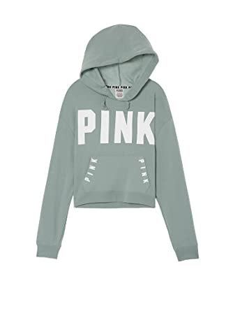 a5745d1ad0a58 Amazon.com: VICTORIA'S SECRET Pink NEW Cropped Pullover Hoodie Color ...