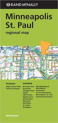 Rand Mcnally Minneapolis/St. Paul, Minnesota Regional Map: Rand ...