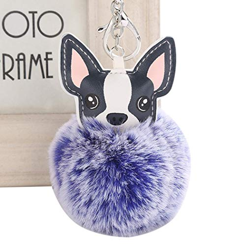 Giuoke Cute Animal Shape with Hairball Key Chain Key Rings Bag Accessory Keyrings & Keychains from Giuoke