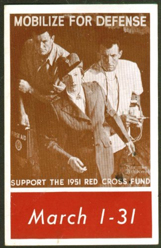 Mobilize for Defense Red Cross Fund Drive postcard 1951