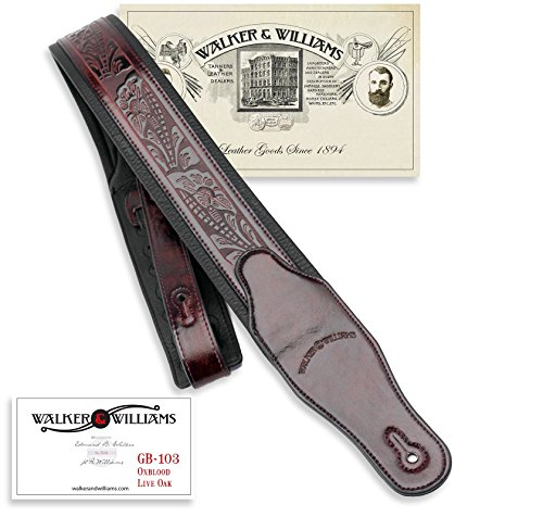 Walker & Williams GB-103 Oxblood Brown Padded Strap, used for sale  Delivered anywhere in USA
