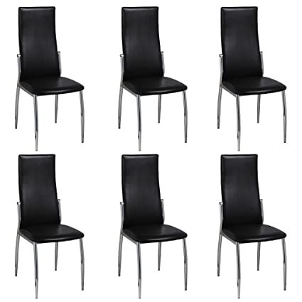 Amazing Amazon Com Set Of 6 Modern Slim Dining Side Chairs High Gmtry Best Dining Table And Chair Ideas Images Gmtryco