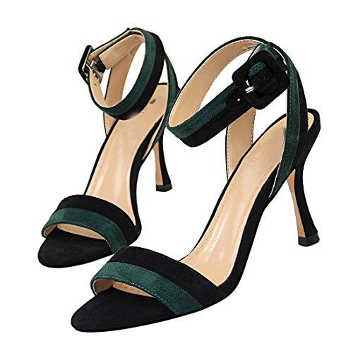 36 MiyooparkUK 2 Sandales Miyoopark 5 pour Femme Vert DS566 Green OqFw8wZ1
