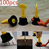 100pcs CN-ZF Ceramic Tile Leveler for Floor and Wall Construction Tools, Reusable Tile Leveling