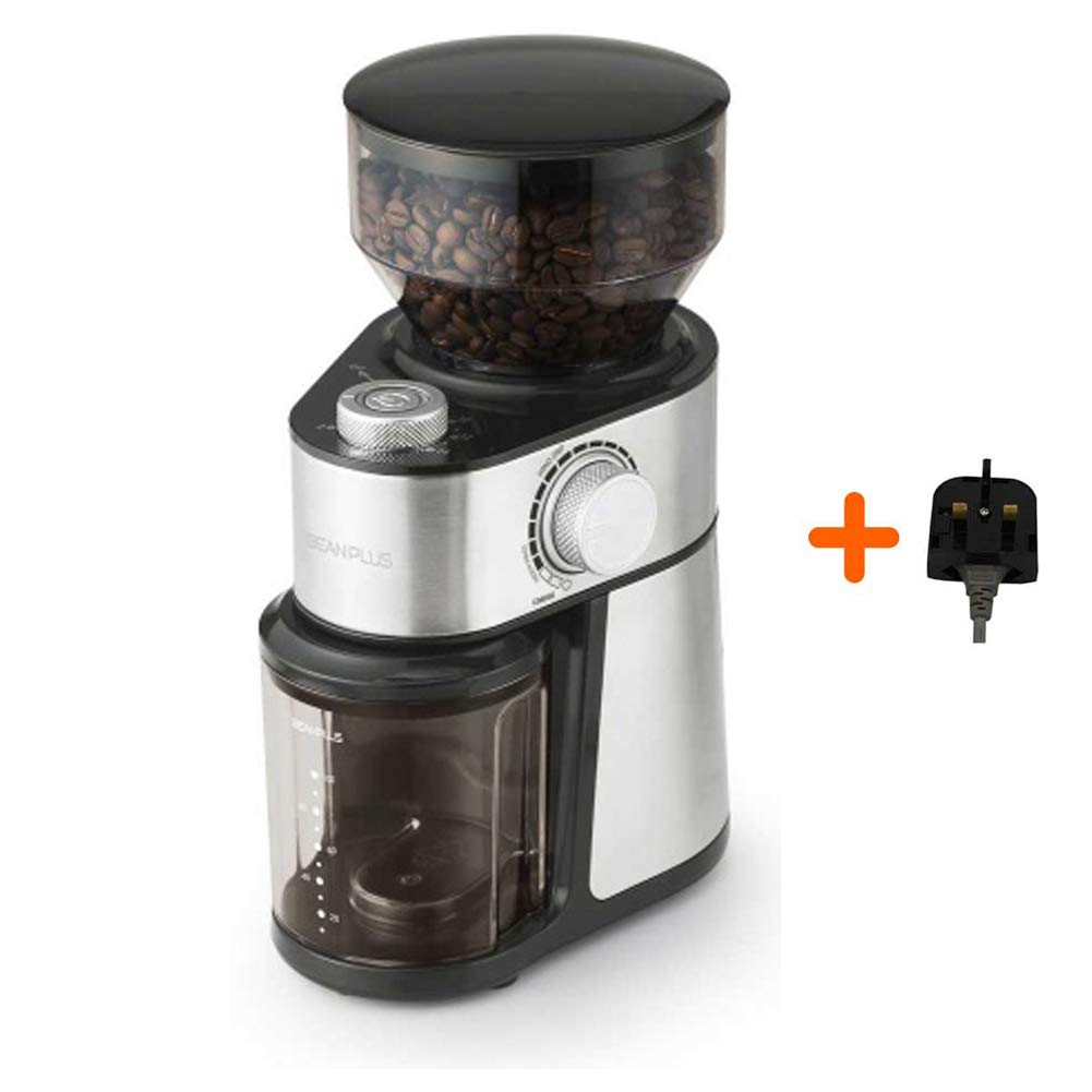 BEANPLUS BCG-200 Flat Burr Electric Coffee Grinder Coffee Bean Grinding Mill 220V by [BEANPLUSOEM] (Image #1)