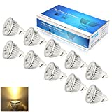 Undimmable 10X GU5.3 MR16 LED Bulbs,5W Equal to 50W Halogen Bulb, 12V, Cutting Edge Design, 300lm, Warm White, LED Light Bulbs