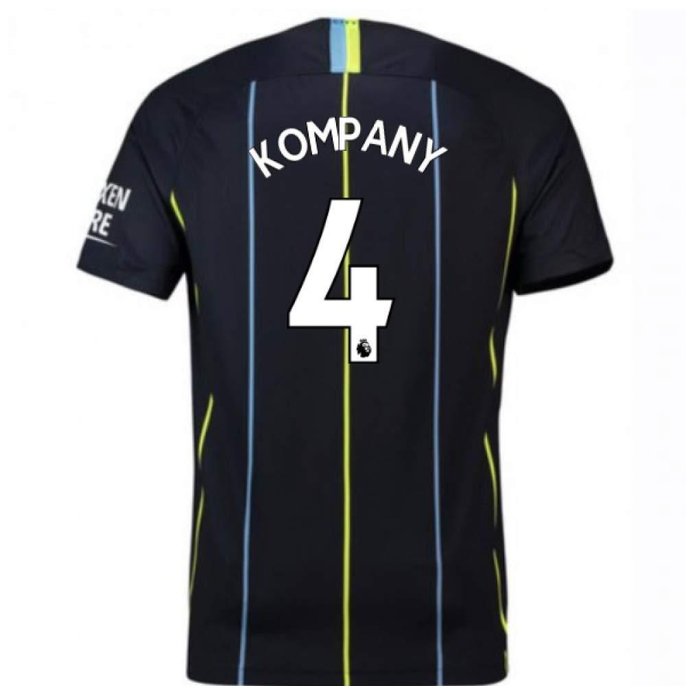 2018-2019 Man City Away Nike Football Soccer T-Shirt Trikot (Vincent Kompany 4) - Kids