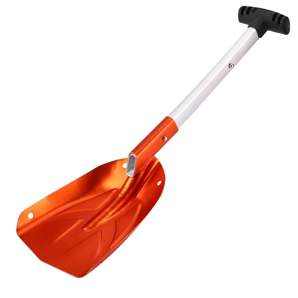 MAGT Winter Snow Shovel, Aluminum Alloy Detachable Telescopic Winter Snow Ice Shovel Outdoor Kit Tool with Non-Slip Handle Orange by MAGT