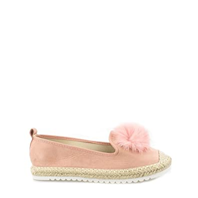 4695bd2c0 Sandi Ladies Women Flat Slip On Pom Pom Espadrille Pump 7 PINK SUEDETTE:  Amazon.co.uk: Shoes & Bags