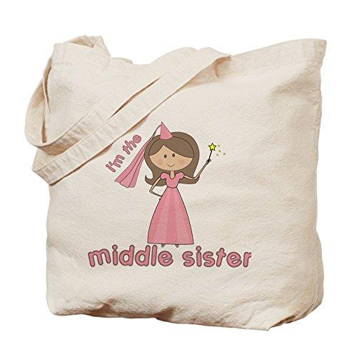 CafePress–I' m The Middle Sister–Borsa di tela naturale, panno borsa per la spesa