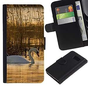 iBinBang / Flip Funda de Cuero Case Cover - Naturaleza Hermosa Forrest Verde 76 - Samsung Galaxy S6 SM-G920