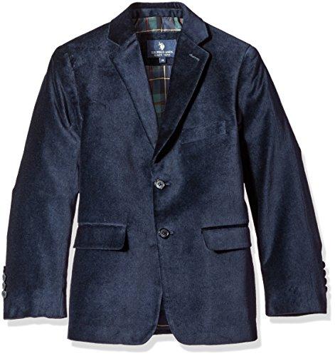 (U.S. POLO ASSN. Boys' Sport Coat, CDM3014J-Velvet-Navy,)