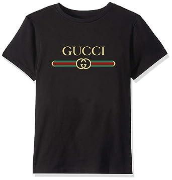 ce20a1a6 Amazon.com: Unisex Toddler Kids Boys/Girls Gucci Logo T-Shirt: Clothing