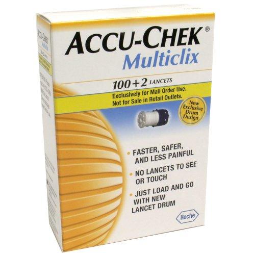 ACCU-CHEK Multiclix Lancets, 102-Count Boxes