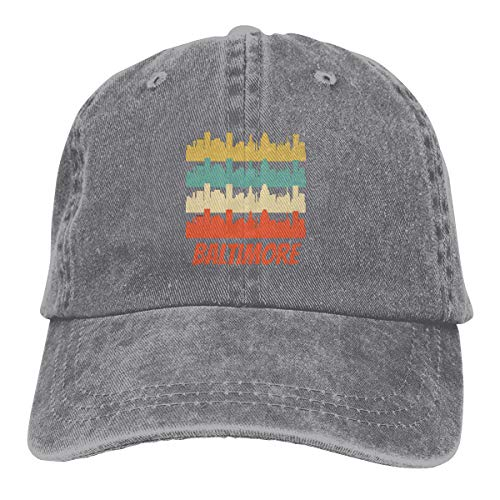 - Soifjfdi 1Retro Baltimore MD Skyline Adjustable Athletic Customized Best Graphic Hat for Men and Women Gray