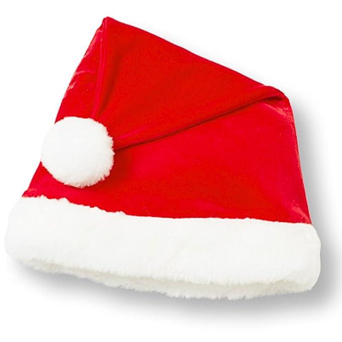f4751d2893 Amazon.com  Le Top Velour Santa Hat with Fur Trim