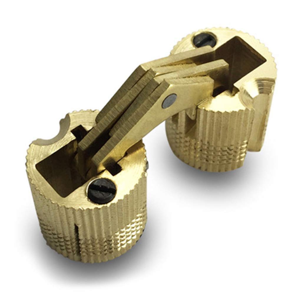 33 EU 10mm dryujdytru 4 Unidades 10//12//14//16mm Lat/ón Barril Bisagra de Armario Cil/índrico Oculto Invisible Bisagra para Hogar Decoraci/ón a Price