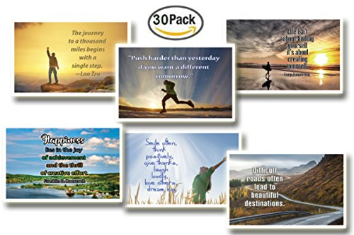 Wall Postcard - NewEights Inspirational Quotes Postcards Cards (30 Pack) Bulk Collection & Gift wih Inspirational , Motivational ,Encouragement Messages