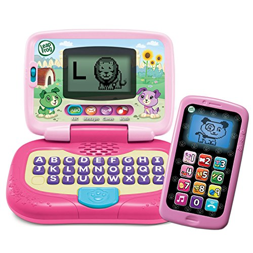 LeapFrog My Own Leaptop and Chat and Count SmartPhone Bundle - Girl (Pink & Purple)