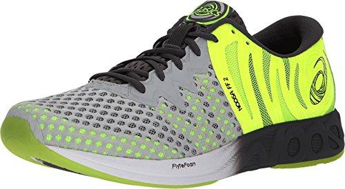 ASICS Noosa FF 2 Men's Running Shoe, Glacier Grey/Dark Grey/Safety Yellow, 7.5 M US