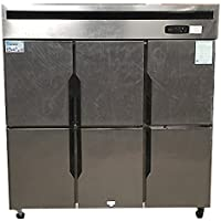 75H x 29W Commercial Kitchen 6 Door Refrigerator Freezer 6 Shelves 110v