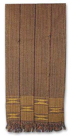 NOVICA Multicolor Cotton Kente Cloth Scarf, 'Royal Prince' by NOVICA