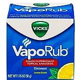 Vicks Vaporub Lemon Scent Ointment 1.76 Oz