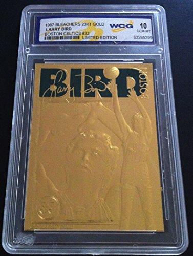 LARRY BIRD 1997 LIMITED EDITION GEM-MT 10 23KT GOLD CARD! BOSTON CELTICS LEGEND! - Merrick Shops At