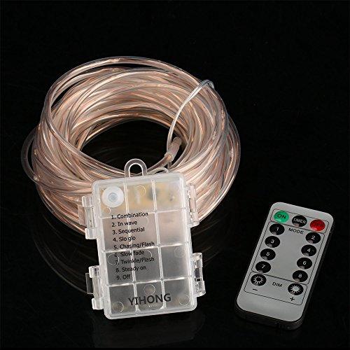 led rope lights battery operated waterproof 33ft string lights import it all. Black Bedroom Furniture Sets. Home Design Ideas